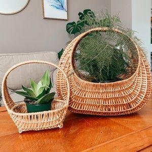 Boho Wicker Gondola Basket Bags